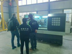 乌克兰客户来公司验收轮毂数控车床
